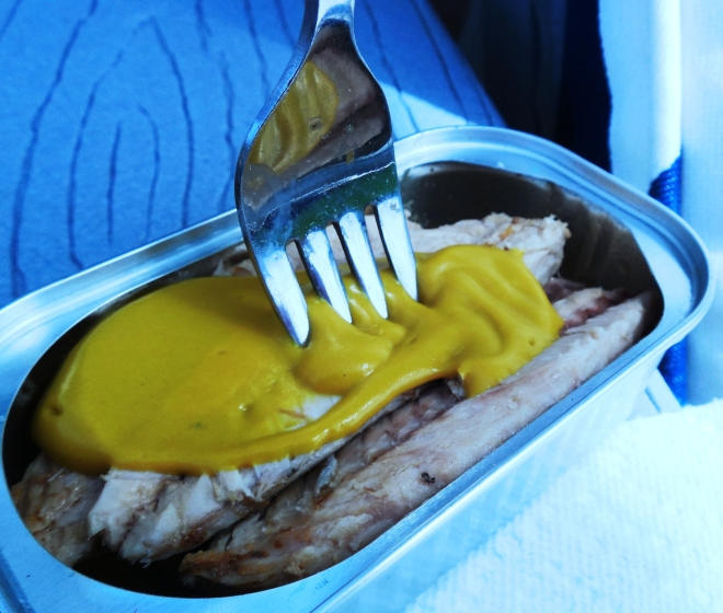 A Quick Snack - Mackerel with Mustard