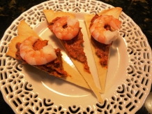 Roasted Eggplant & Red Pepper Tapenade Shrimp Canope