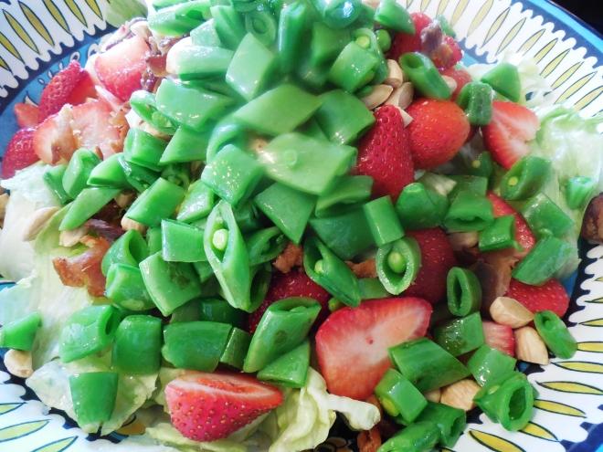 Strawberry Sugar Snap Pea Spring Salad