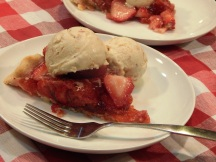 Summer Strawberry Pie with Hazelnut Orange Ice Cream