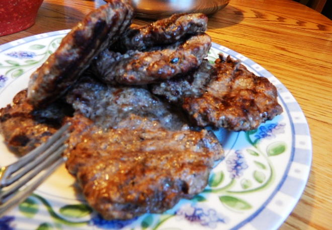 Grilled Venison Pork Burgers