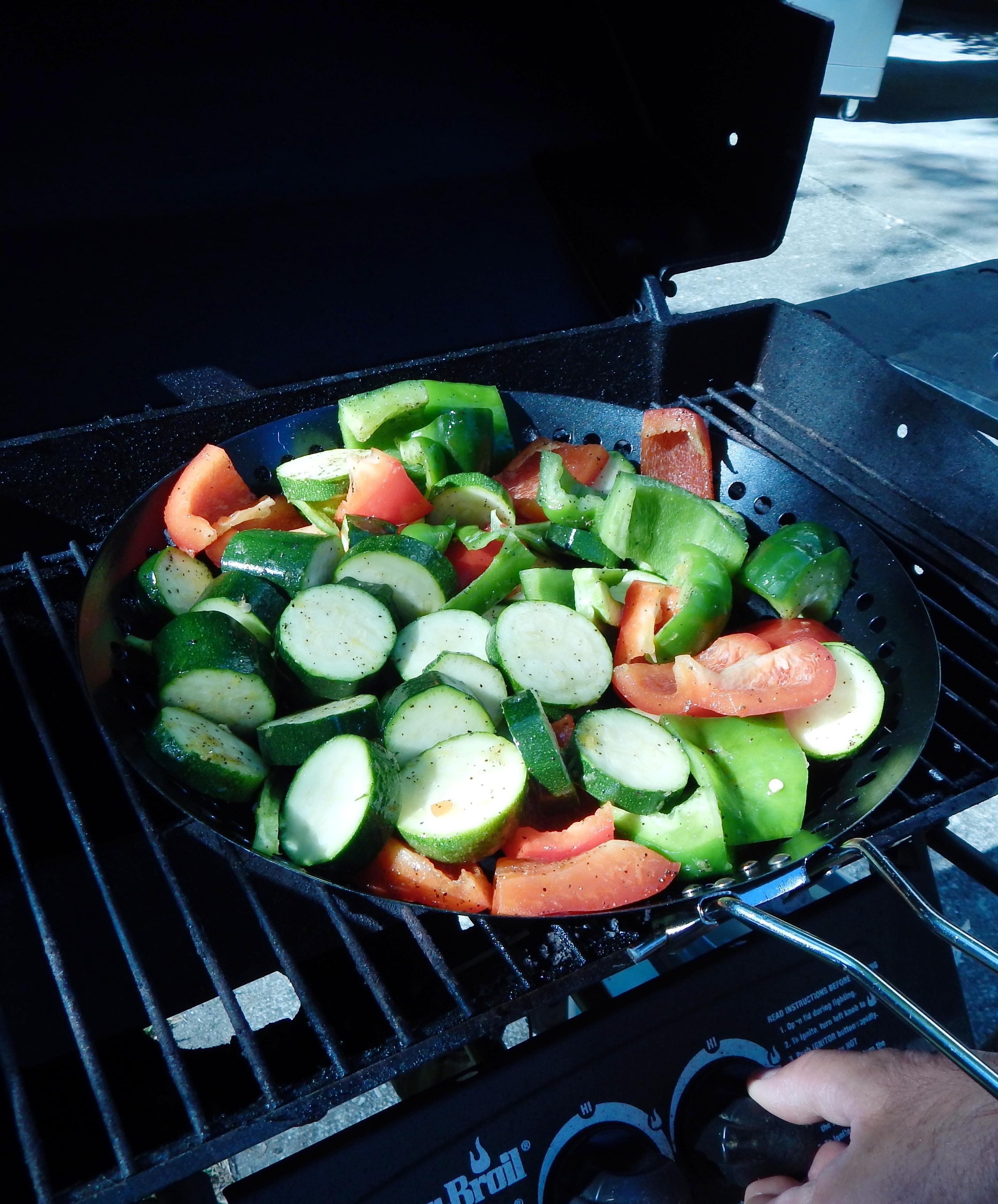 Grilled Vegetable & Shrimp Toss