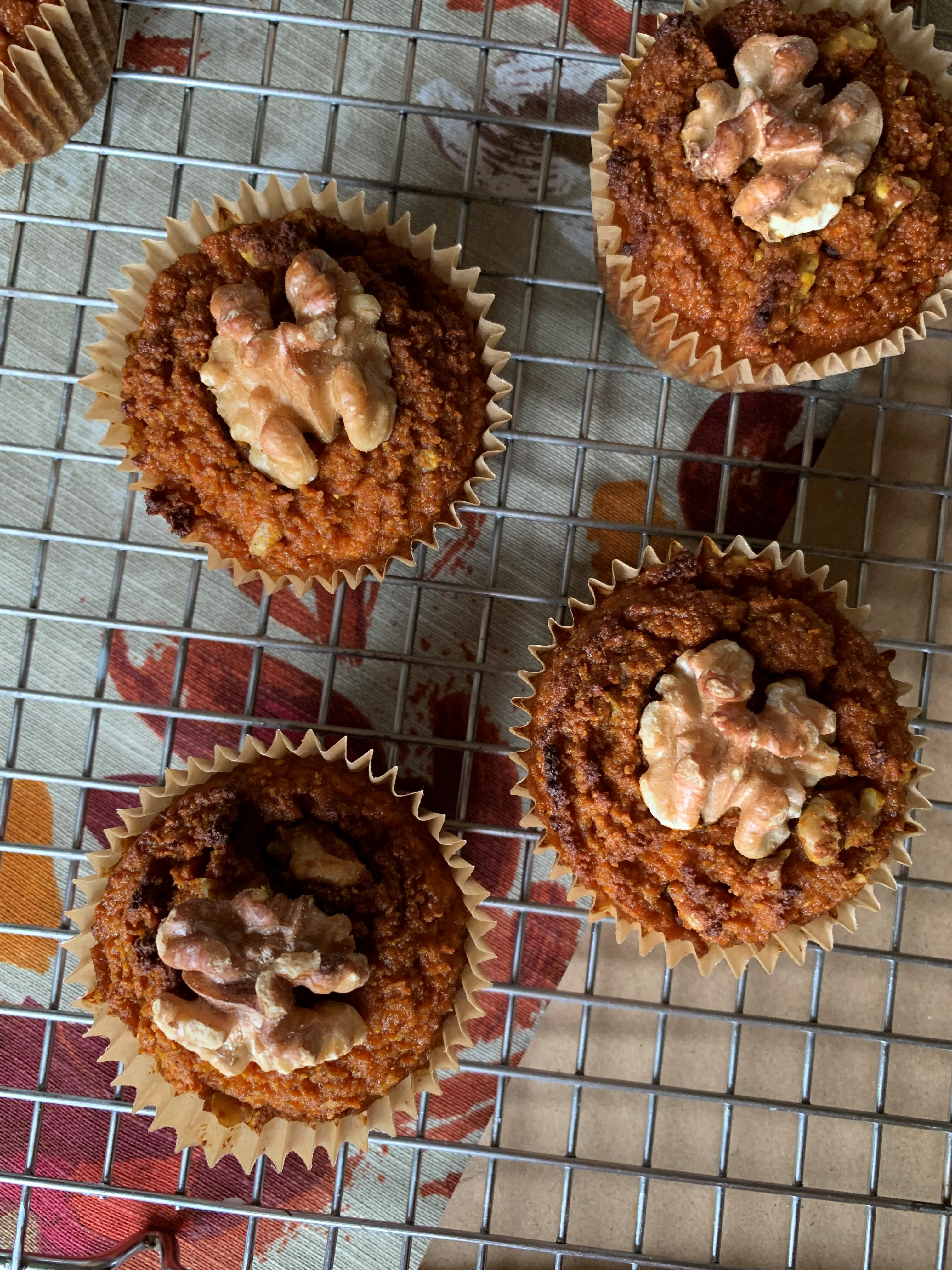 Grain Free Walnut Spice Muffins SCD, Paleo