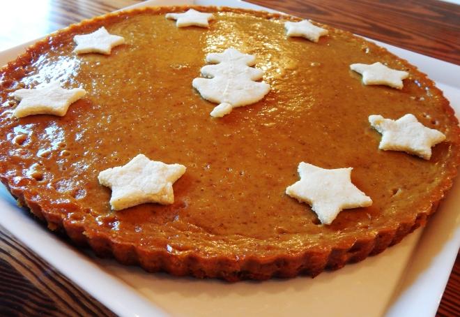 Festive Pumpkin Vanilla Bean Tart (Paleo, SCD)