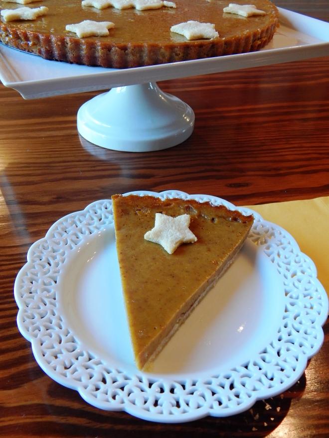 Festive SCD Paleo Pumpkin Vanilla Bean Tart