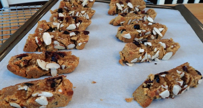 Pumpkin Cranberry Biscotti Second Baking
