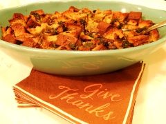 Bread Stuffing with Paleo SCD Pumpkin Seed Bread