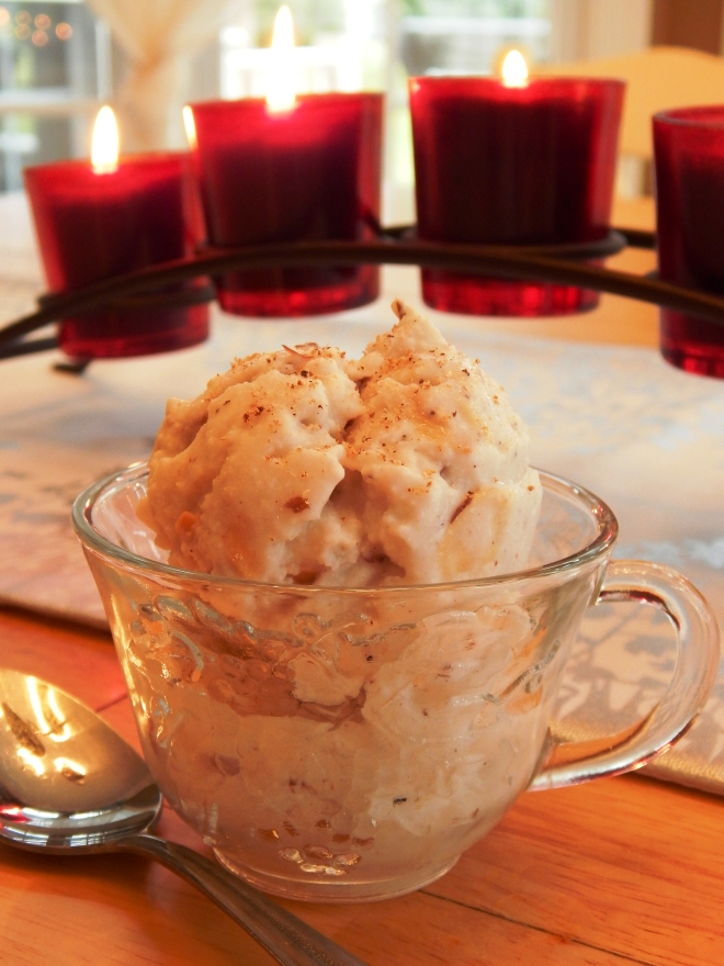 Eggnog Toasted Almond Ice Cream