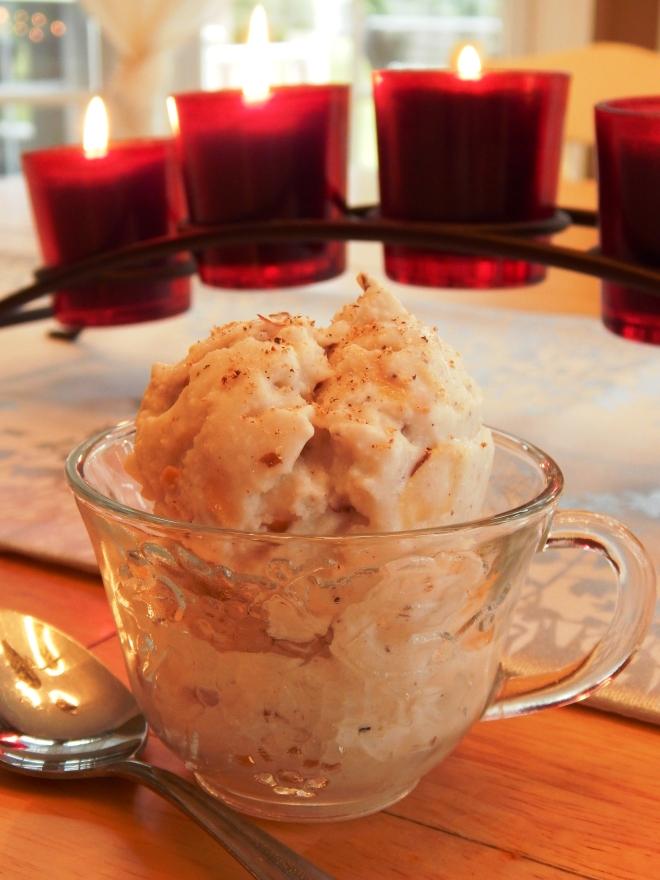 Eggnog Toasted Almond Ice Cream