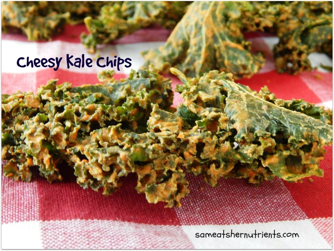 Cheesy Kale Chips for blog