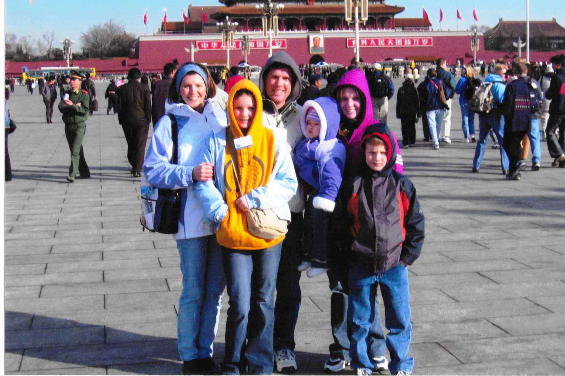 Our Family in Tiananmen Square While Traveling in China