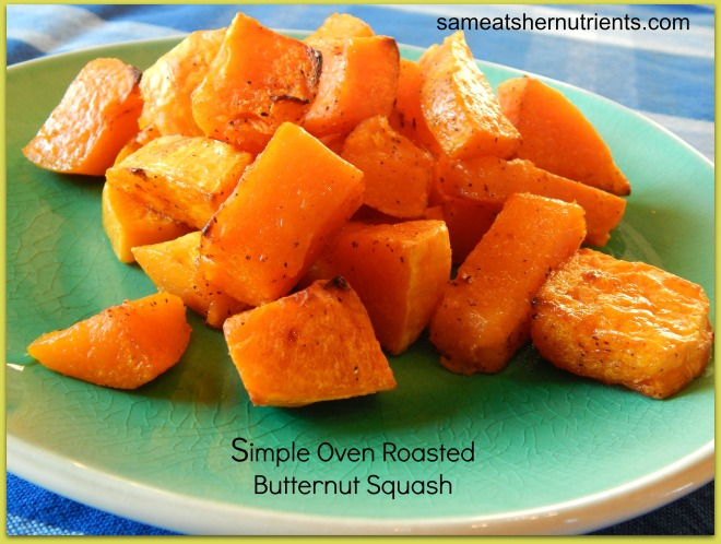 oven roasted butternut squash with type