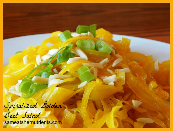 Spiralized Golden Beet Salad 2