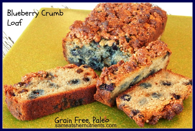 Blueberry crumb loaf with type