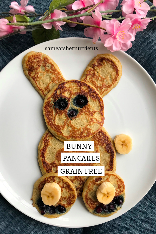 Bunny Pancakes Grain Free Kid Friendly