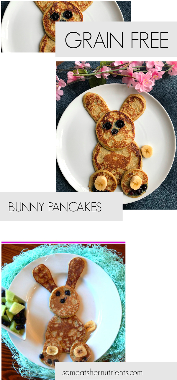 Grain Free Bunny Pancakes - Kid Approved, Paleo