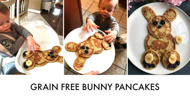 Grain Free Bunny Pancakes with Zackary