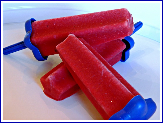 Raspberry Cherry Popsicles - Real Fruit!