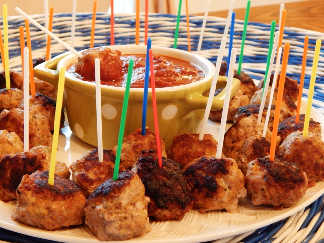 Cocktail Meatballs with Honey Orange BBQ Sauce