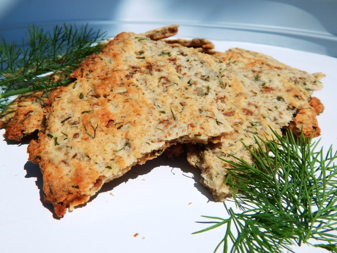Dill and Chive Grain Free Crackers