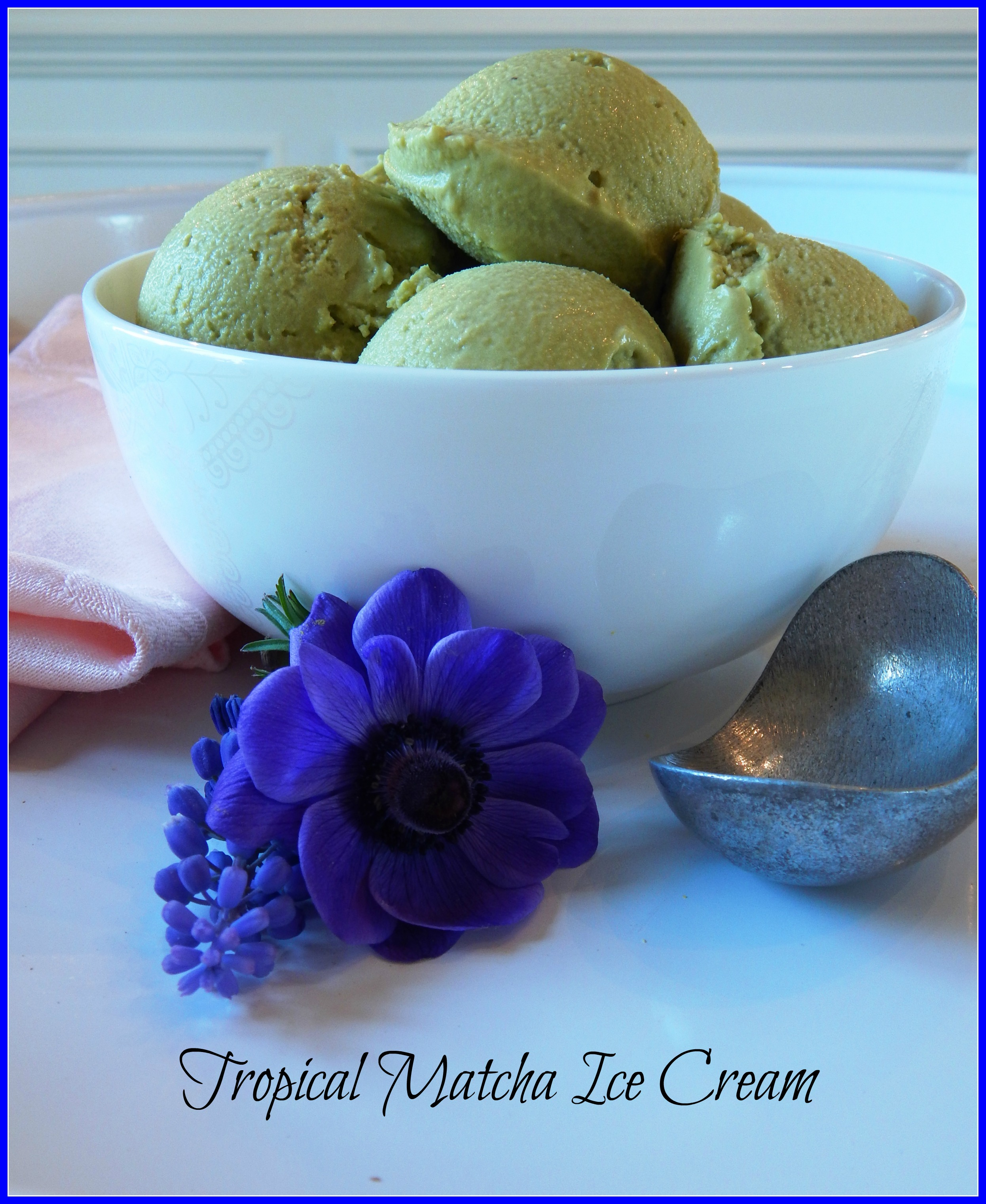 Tropical Matcha Ice Cream