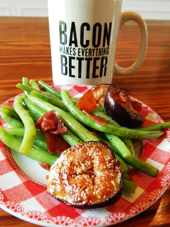 Green Beans with Figs and Bacon