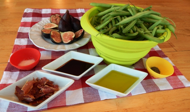 Green Beans with Figs and Bacon Ingredients