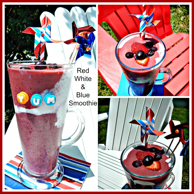 Red White & Blue Smoothie Collage