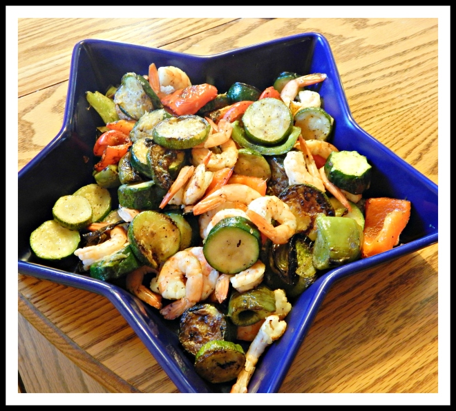 Grilled Shrimp and Veggie Toss