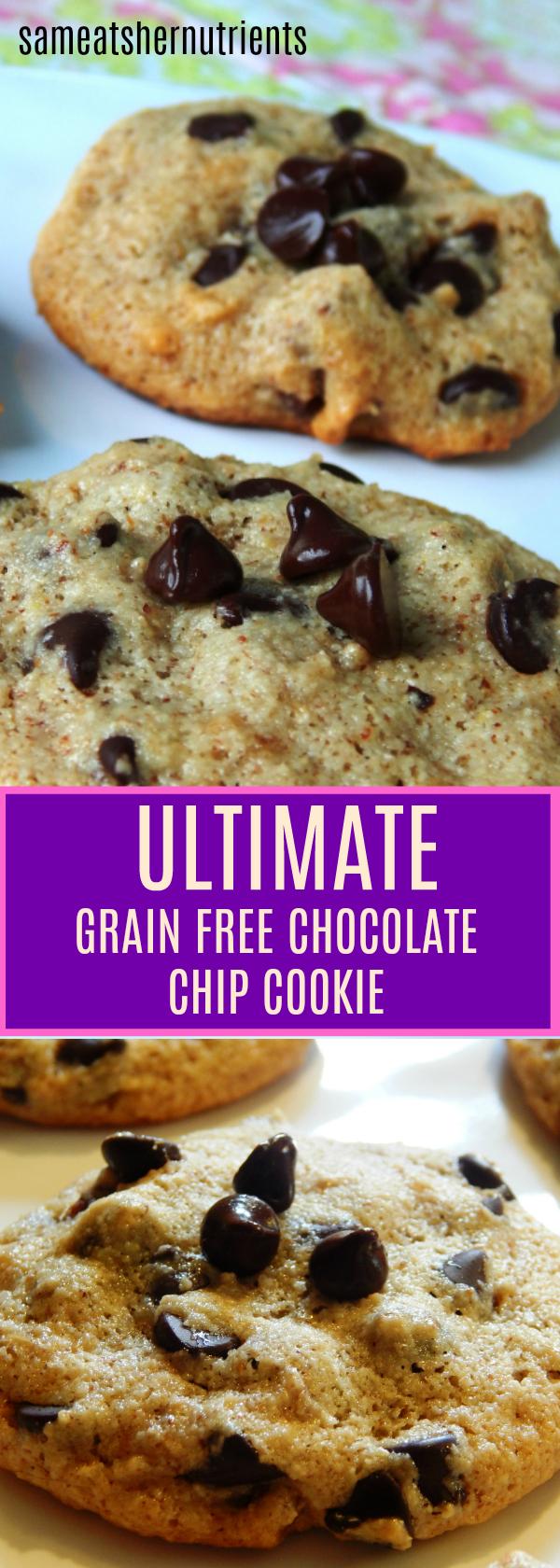 The Ultimate Grain Free Chocolate Chip Cookie - Grain Free, Paleo