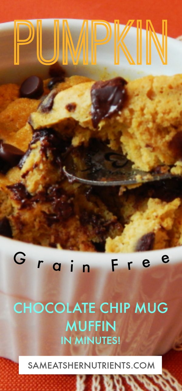 Pumpkin Chocolate Chip Mug Muffin in Minutes!