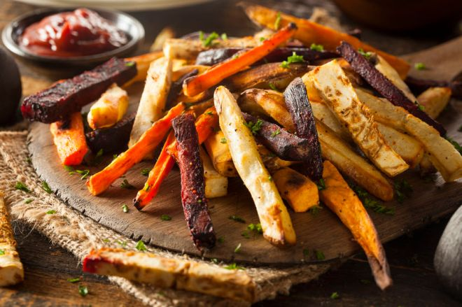 Oven Roasted Root Vegetable Fries