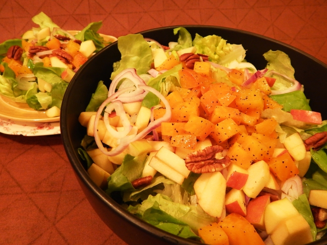 Fuji Apple Pecan Beet Salad with White Balsamic Dressing