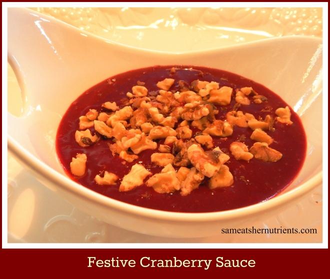 Festive Crannberry Sauce