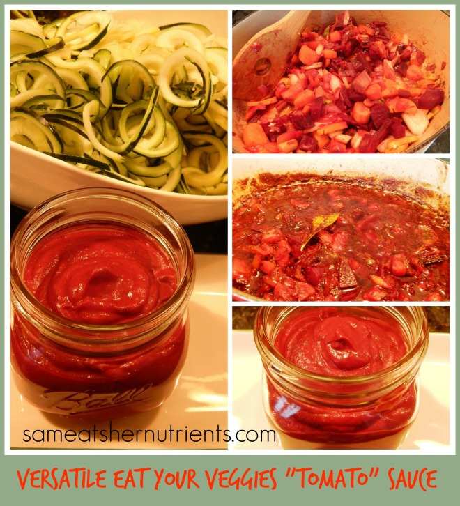 Eat Your Veggies Tomato Sauce Collage