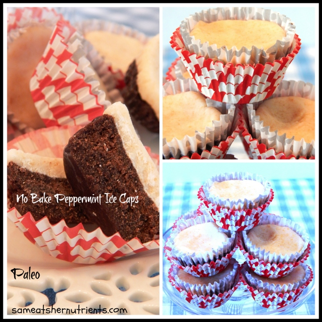 No Bake Peppermint Ice Caps Collage