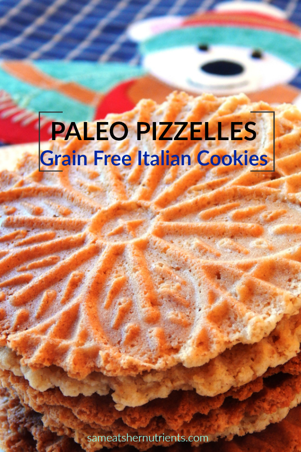 Paleo Pizzelles Grain Free Italian Cookies. Crispy and Delicious.