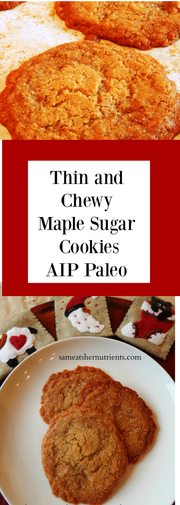 Thin and Chewy AIP Paleo Maple Sugar Cookies! Delicious!!!