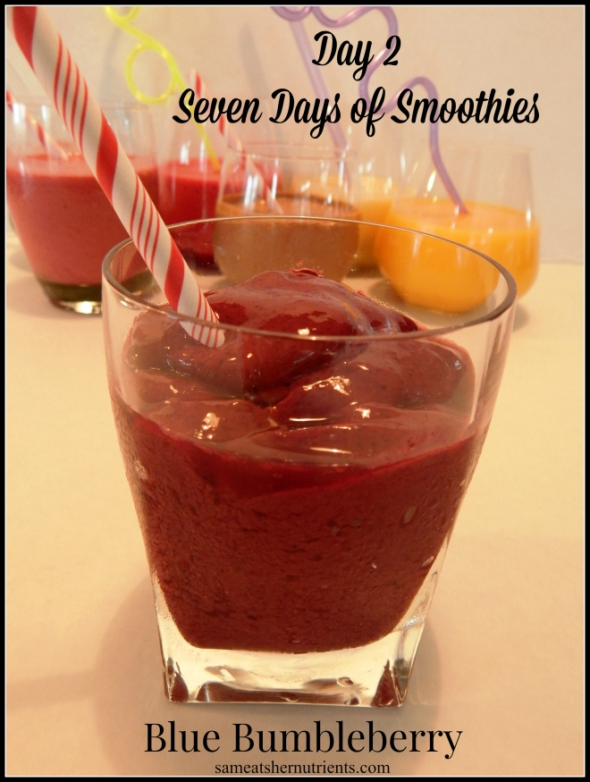Blue Bumbleberry Day 2 Seven Days of Smoothies