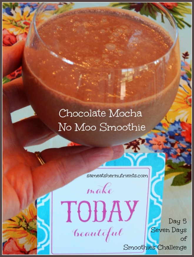 Chocolate Mocha No Moo - Day 5 - Seven Days of Smoothies Challenge