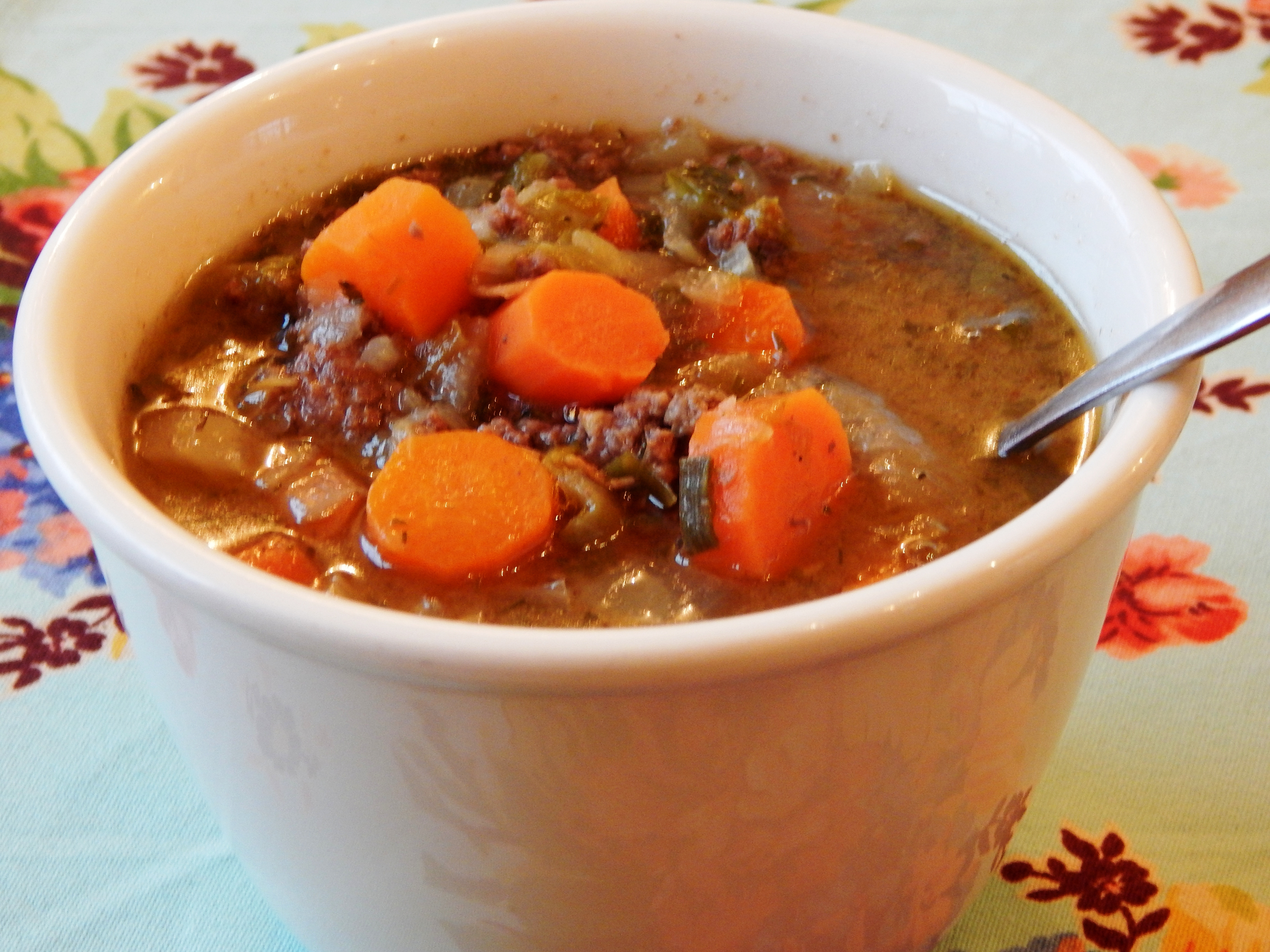 Hearty and Nourishing Vegetable Bison Soup
