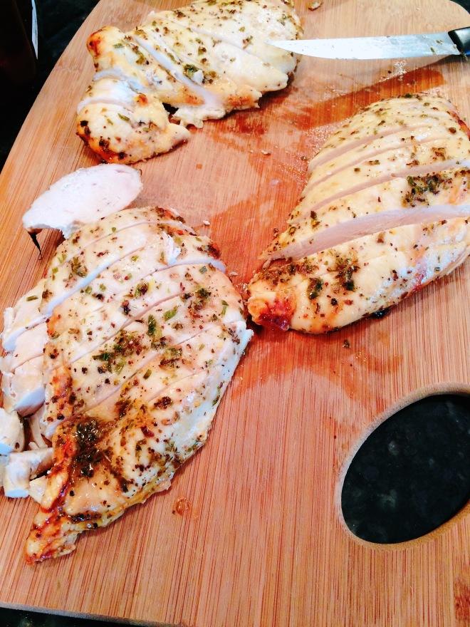 Sliced Lemon Chicken Breasts