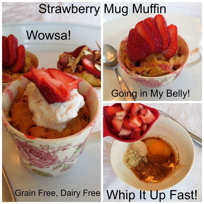 Strawberry Mug Muffin! Yum!