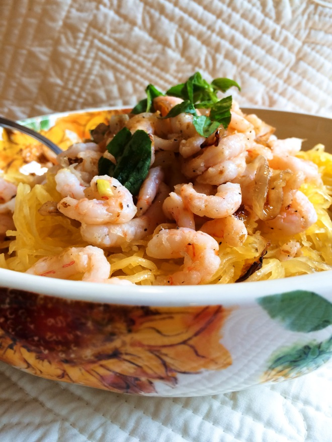 Shrimp and Shallot Bowl