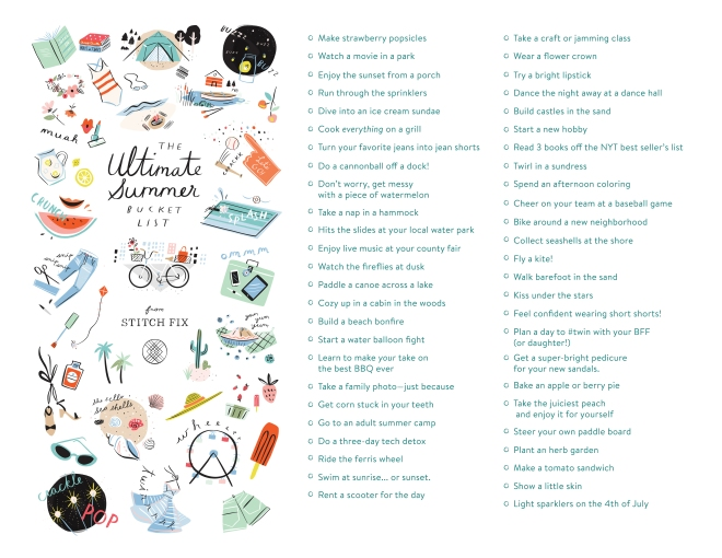 Summer Bucket List from Stitchfix