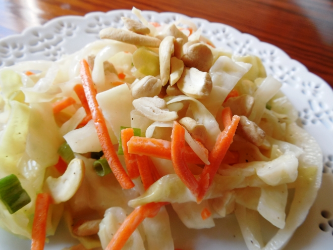 Asian Cabbage Salad with Cashews