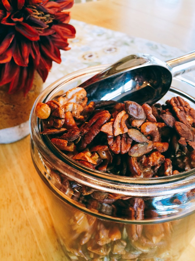 Honey Sweetened Spiced Nuts