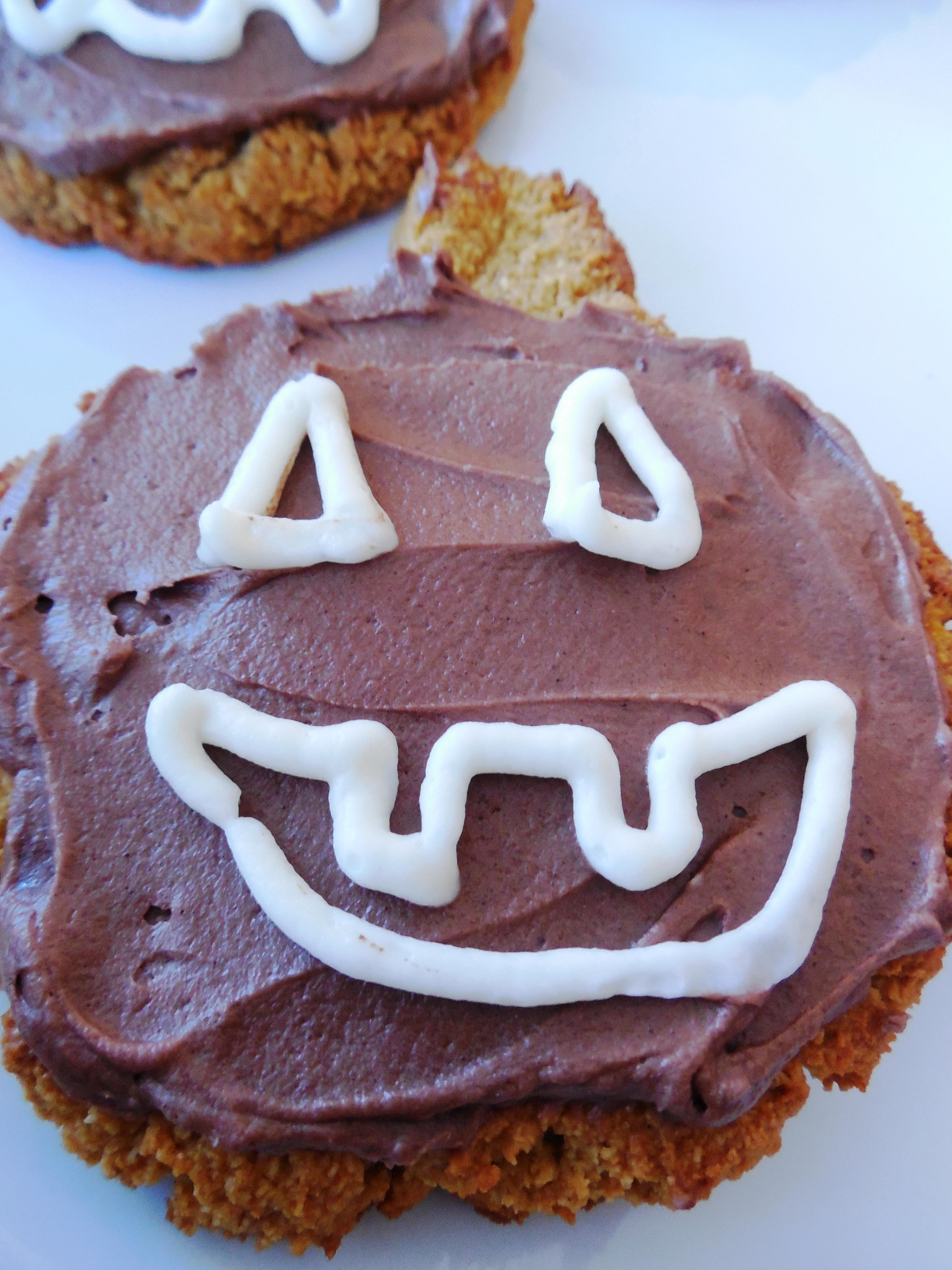 Frosted Jackolantern Pumpkin Cookie - Grain Free