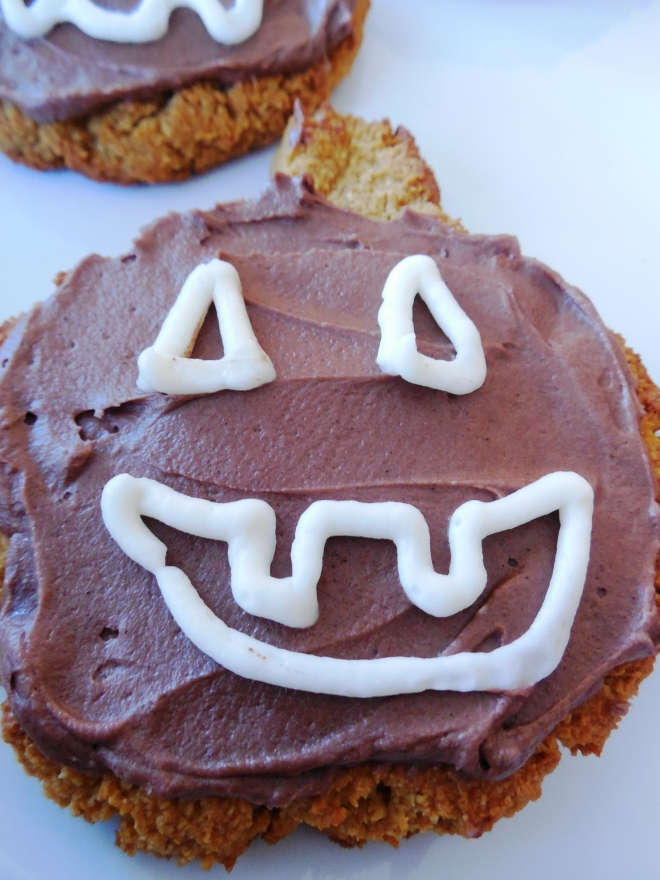Frosted Jackolantern Pumpkin Cookie - Grain Free