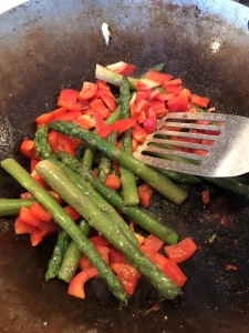 Asparagus and Red Peppers
